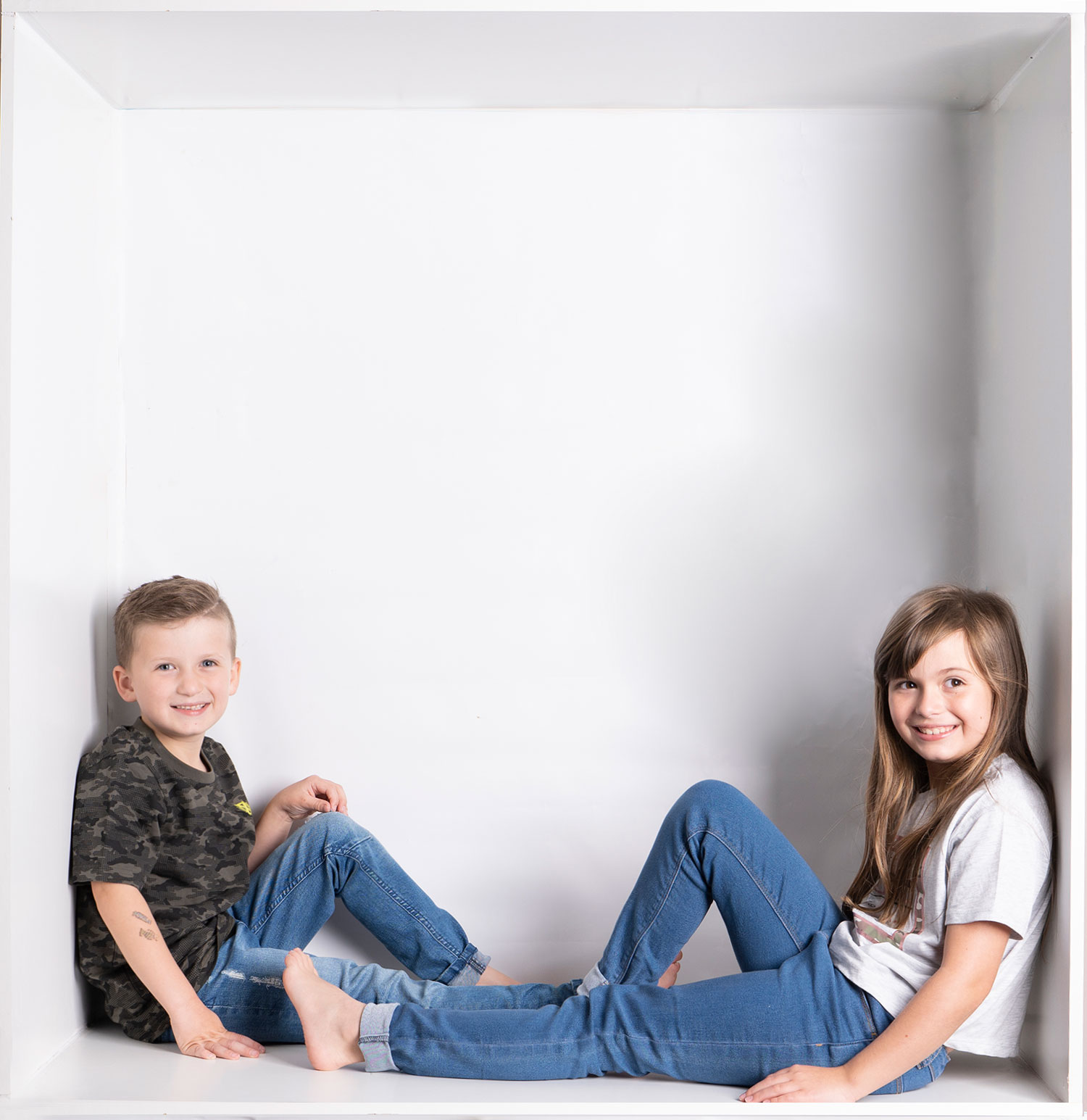 brother and sister in the box